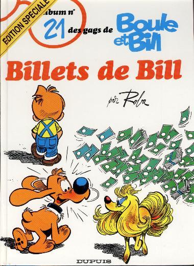 BOULE ET BILL -1- - Billets de Bill  - Tome 21 (ES) - Grand format