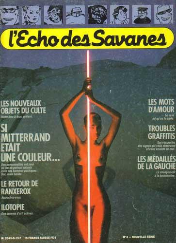 ECHO DES SAVANES (L') - Si Mitterand Etait Une Couleur  - Tome 8 - Grand format