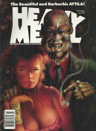 HEAVY METAL - March 1991  - Tome 9103 - Grand format