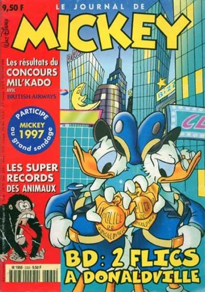 JOURNAL DE MICKEY (LE) - 2369 - 2 flics à Donaldville - Grand format