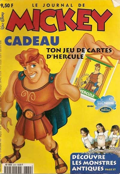 JOURNAL DE MICKEY (LE) - 2372 - Ton jeu de cartes d'Hercule - Grand format