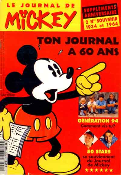JOURNAL DE MICKEY (LE) - 2209 - Ton journal a 60 ans - Grand format