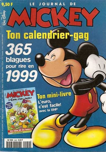 JOURNAL DE MICKEY (LE) - 2429 - Ton calendrier-gag - Grand format