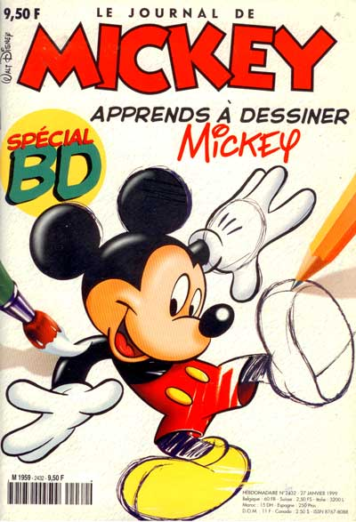 JOURNAL DE MICKEY (LE) - 2432 - Apprends à dessiner - Grand format
