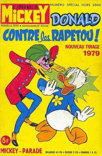 Mickey Parade (Suppl. Journal de Mickey)  -  Donald contre les Rapetou! (873 bis R)  - Tome 11 (a)