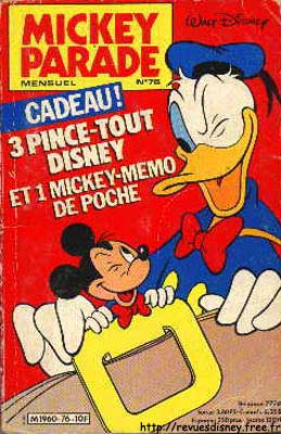 Mickey Parade  -  3 pince-tout Disney  - Tome 76