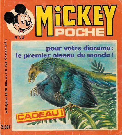 MICKEY POCHE - L'archéopteryx  - Tome 53 - Moyen format