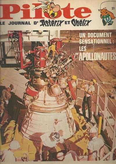 (RECUEIL) PILOTE (ALBUM DU JOURNAL - EDITION BELGE - Les apollonautes  - Tome 21 - Grand format