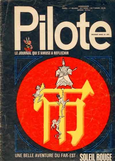 (REVUE) PILOTE (LE JOURNAL D'ASTÉRIX ET OBÉLIX) - Soleil rouge  - Tome 633 - Grand format