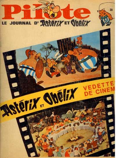 (RECUEIL) PILOTE (ALBUM DU JOURNAL - EDITION BELGE - Astérix et Obélix vedettes de cinéma  - Tome 20 - Grand format