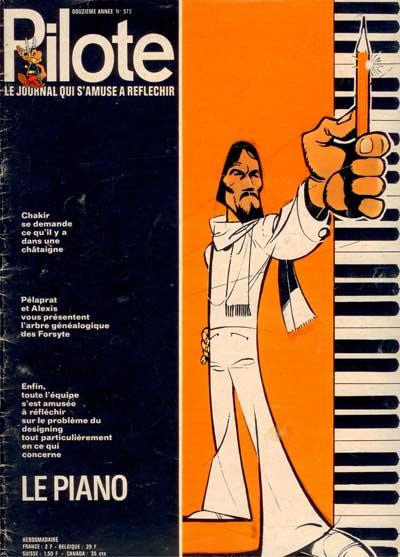 (REVUE) PILOTE (LE JOURNAL D'ASTÉRIX ET OBÉLIX) - Le piano  - Tome 573 - Grand format