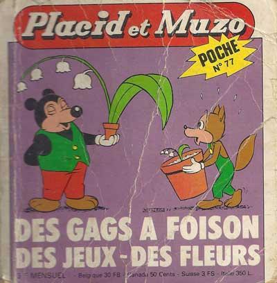 PLACID ET MUZO (POCHE) - Des gags à foison  - Tome 77 - Moyen format