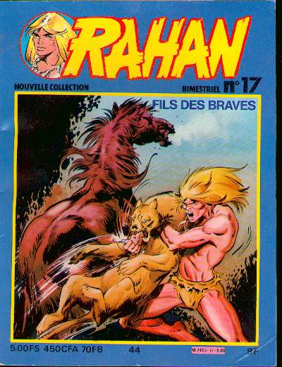 RAHAN (VAILLANT 2) - Le secret de l'enface de Rahan/La caverne des tromperies/Le quatre jambes  - Tome 44 (17) - Big format