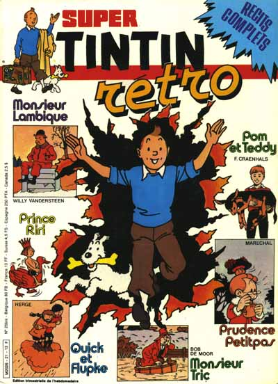 (RECUEIL) TINTIN SUPER - Rétro  - Tome 21 - Grand format