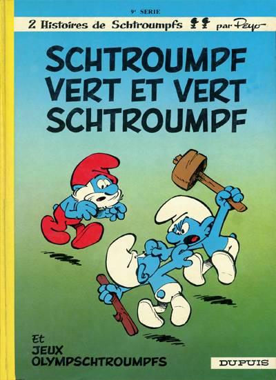 SCHTROUMPFS (LES) - Schtroumpf vert et vert schtroumpf  - Tome 9 (a) - Grand format