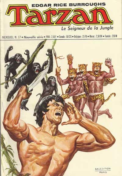 TARZAN (SEIGNEUR DE LA JUNGLE - SAGÉDITION - NOUVE - L'attaque des hommes-panthères  - Tome 17 - Moyen format