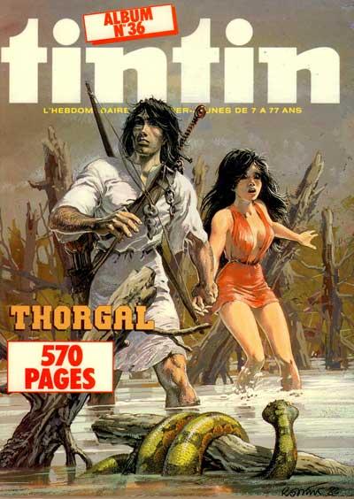 (RECUEIL) TINTIN (NOUVEAU) FRANÇAIS - Thorgal  - Tome 36 - Grand format