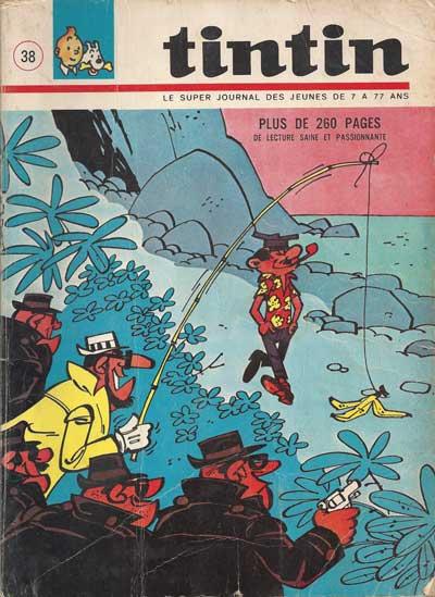 TINTIN (LE SUPER JOURNAL DES JEUNES DE 7 À 77 ANS) - Numéro 38  - Tome 38 - Grand format