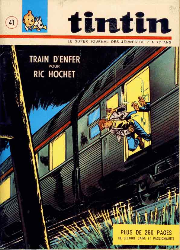 TINTIN (LE SUPER JOURNAL DES JEUNES DE 7 À 77 ANS) - Train d'enfer pour Ric Hochet  - Tome 41 - Grand format