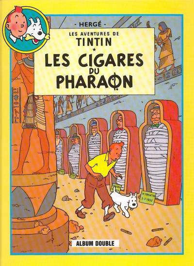 TINTIN (FRANCE LOISIRS) - Les cigares du pharaon / Le lotus bleu  - Tome 2 - Grand format
