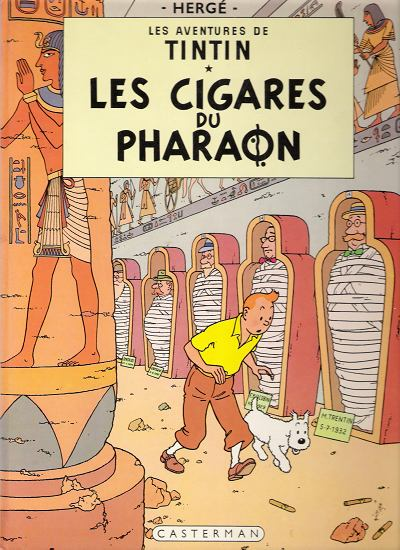 TINTIN - Les cigares du Pharaon  - Tome 4 (C5) - Grand format